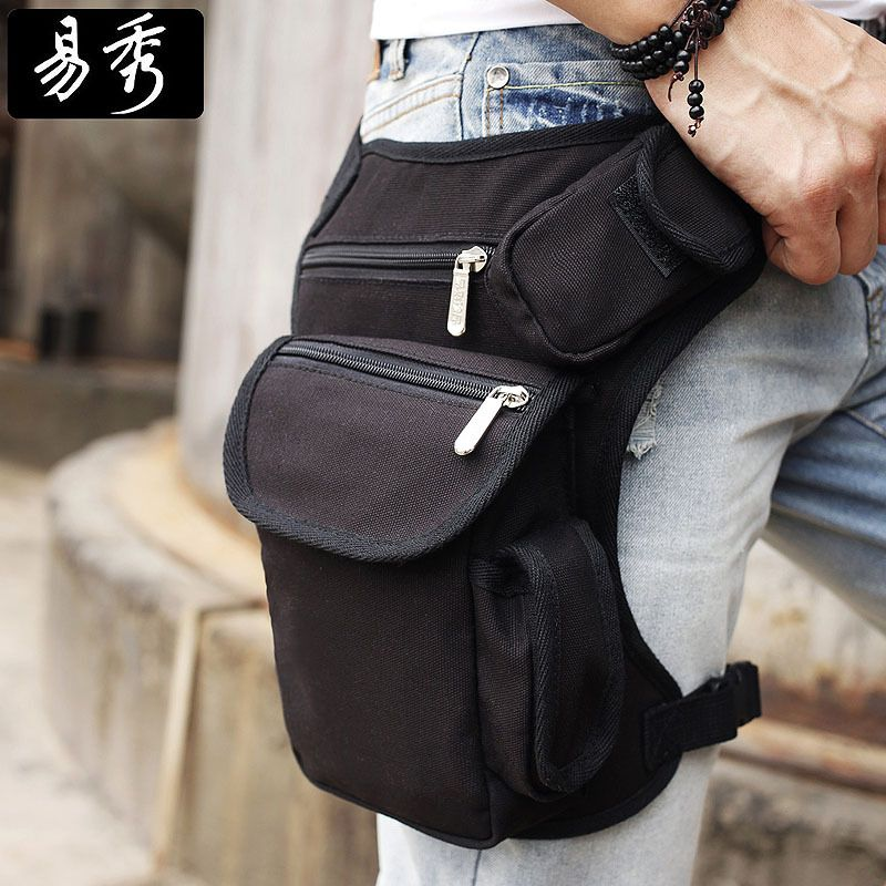 Eshow Men belt bag Canvas leg bags waist pack bag fanny pack running belt  men travel bicycle bags BFT000201  40.00 1354e648a7dea