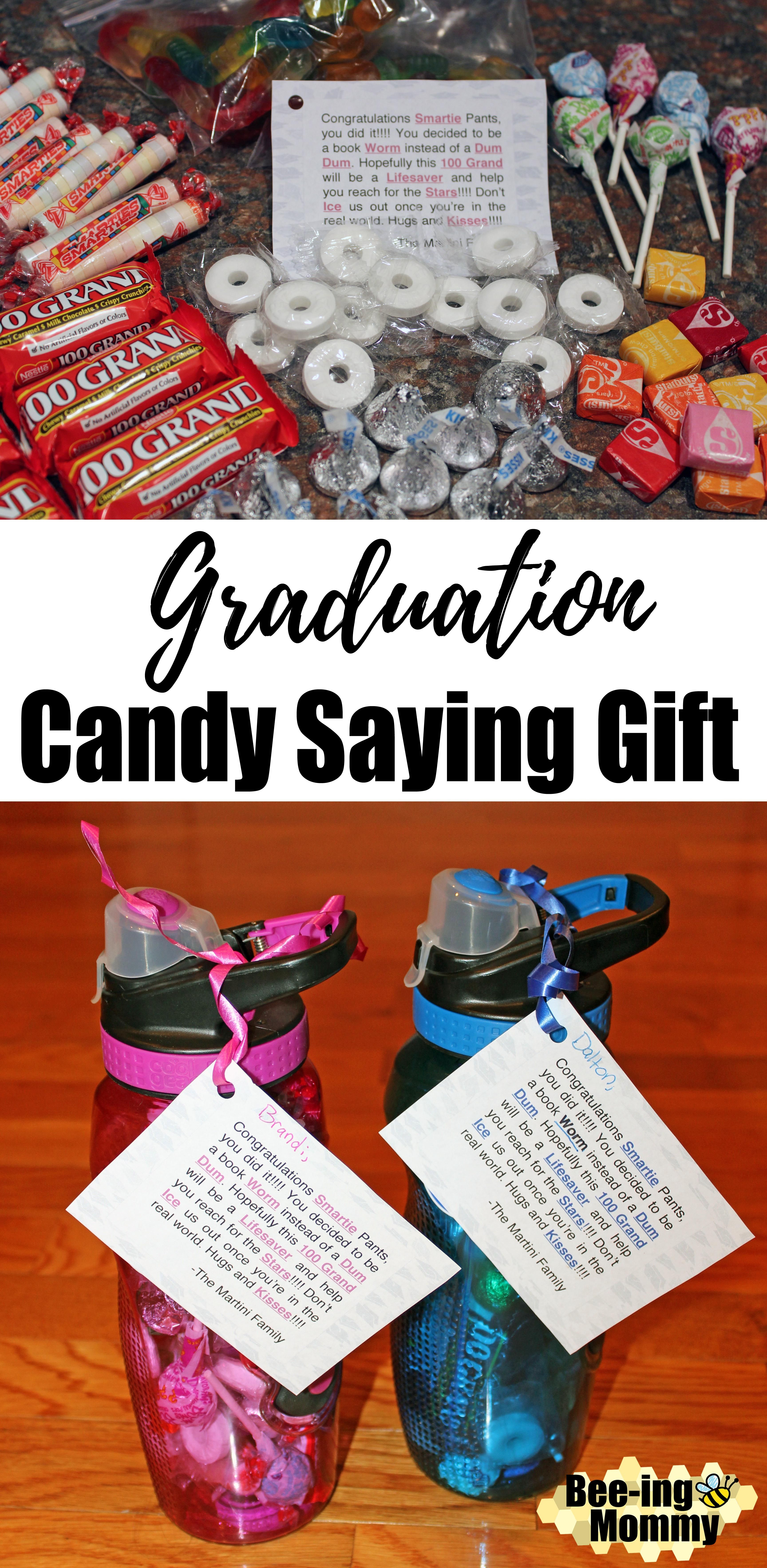 graduation candy saying water