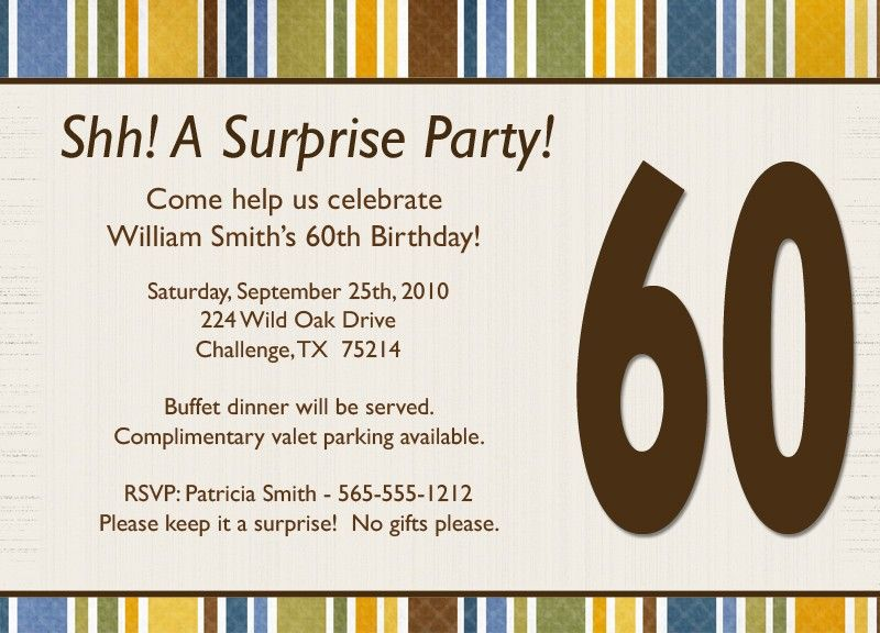 Download Now Free Surprise Birthday Party Invitations Download - dinner invite templates