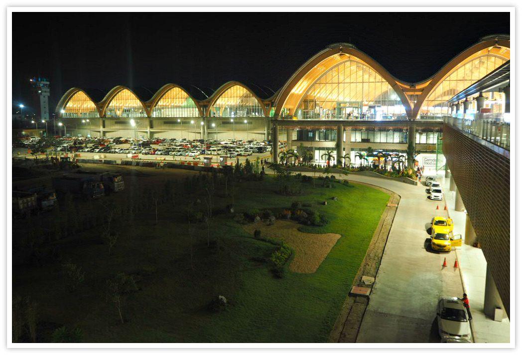 Night View Of Mactan Cebu International Airport Terminal 2 Philippines Culture Mactan Famous Gardens