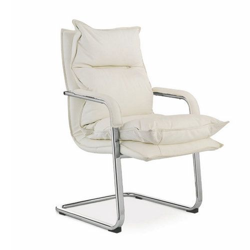 New design white mid back white leather office chair with low – Conference Room Chairs Leather