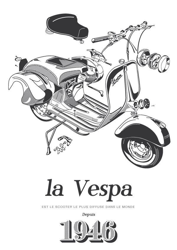 Vintage Italian Posters Italian Vintage Posters Vespa 1946