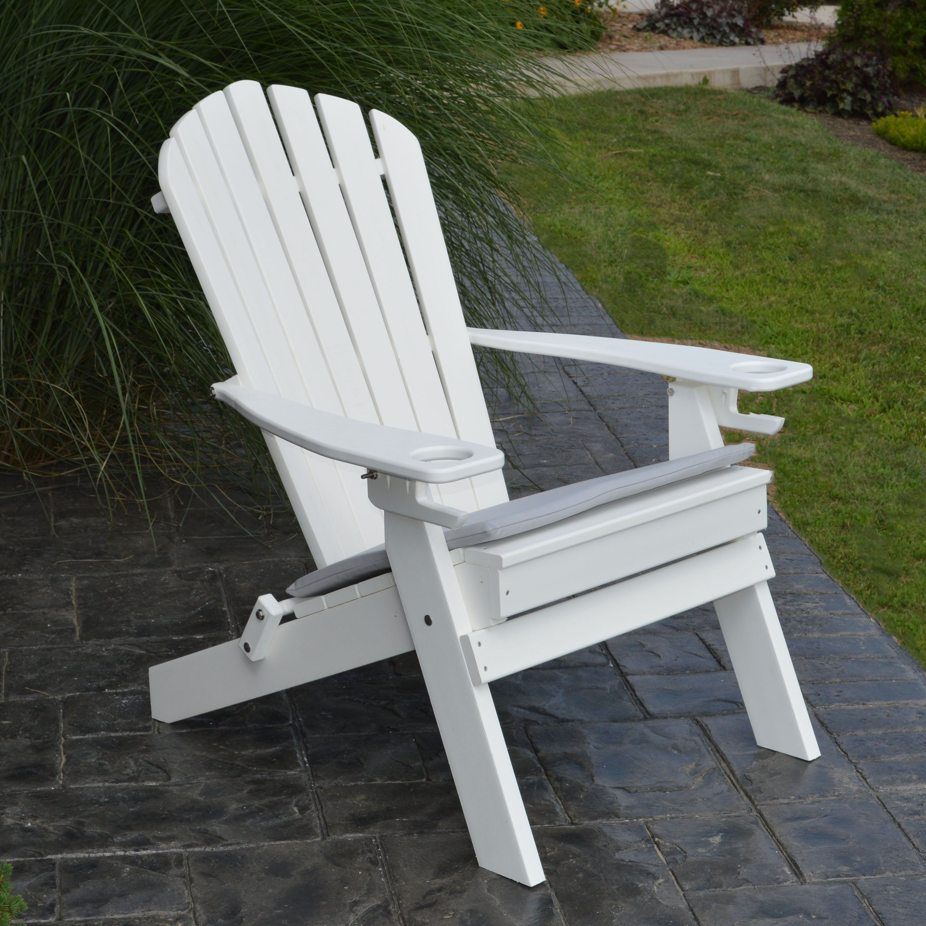 A & L Furniture Folding Recycled Plastic Adirondack Chair