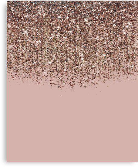 Lienzo Blush Pink Rose Gold Bronze Cascading Glitter De Christyne Gold Glitter Background Glitter Wallpaper Iphone Wallpaper Glitter