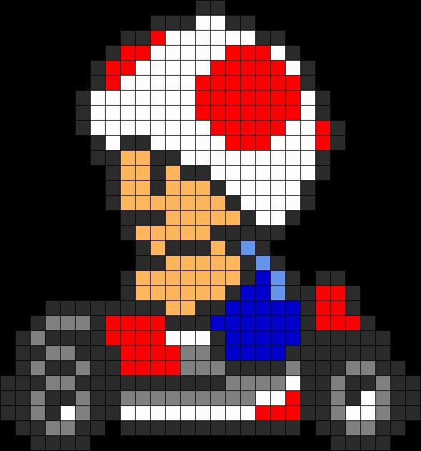Mario Kart Toad Pixel Art Pixel Art Jeu Vidéo Dessins