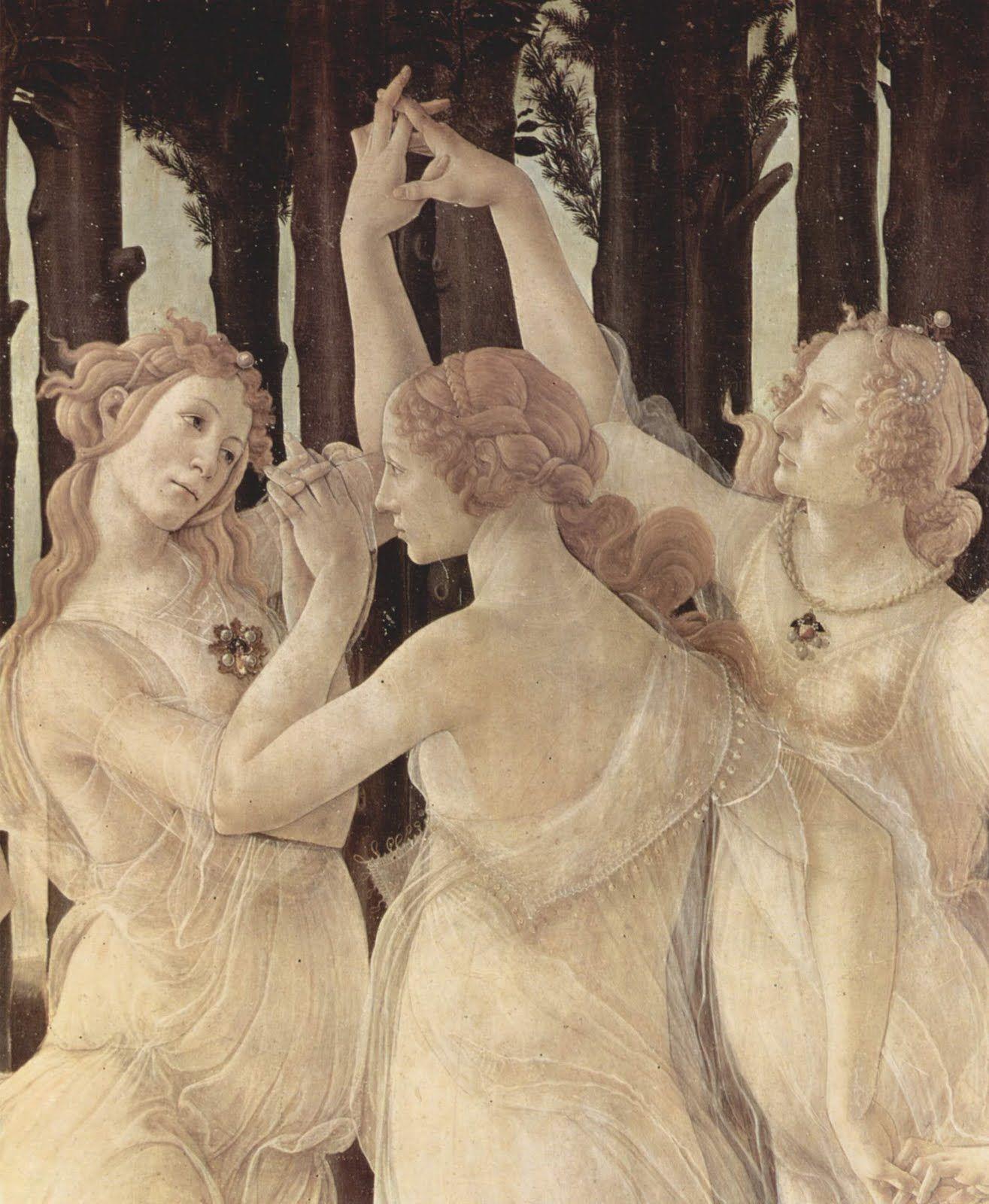 Detail of La Primavera, Sandro Botticelli.