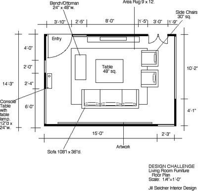 Jill Seidner Interior Design Winner Design Challenge Space Plan For Your Living Room Living Room Floor Plans Living Room Furniture Layout Living Room Plan