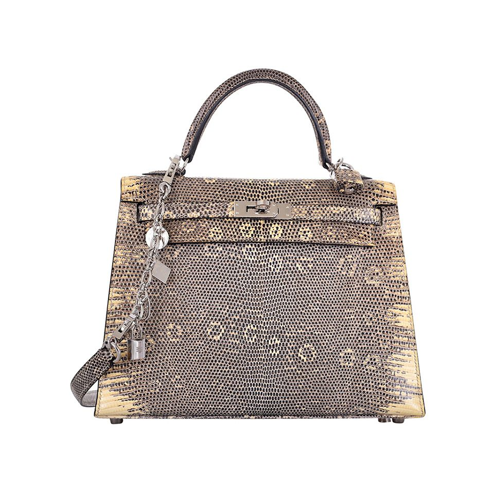 fe51bab901ba IMPOSSIBLE FIND HERMES KELLY BAG 25cm OMBRE LIZARD FABULOSITY JF FAVE  PRICE   105