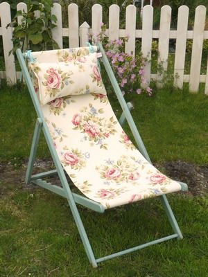 Superieur Foldable Floral Deck Chair For Outdoor Seating?