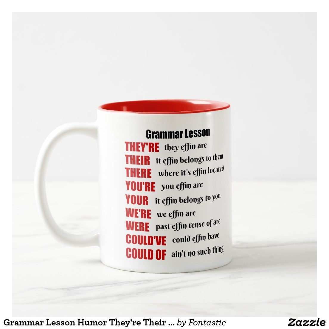 Grammar Lesson Humor They Re Their There Two Tone Coffee