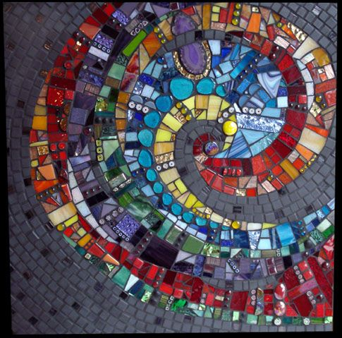 Spiral Design With Nice Variety Of Textures And Colors Mosaic