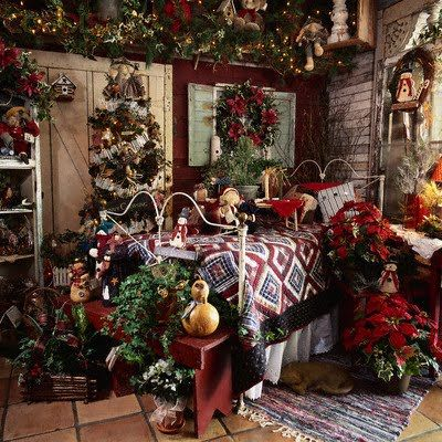 Christmas Bedrooms | Well, The Above Bedroom Is A Bit Busy And Stuffed Full  Of
