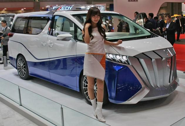 The Oddest Concept Cars Of The Tokyo Motor Show Tokyo Motor Show Concept Cars Toyota Alphard