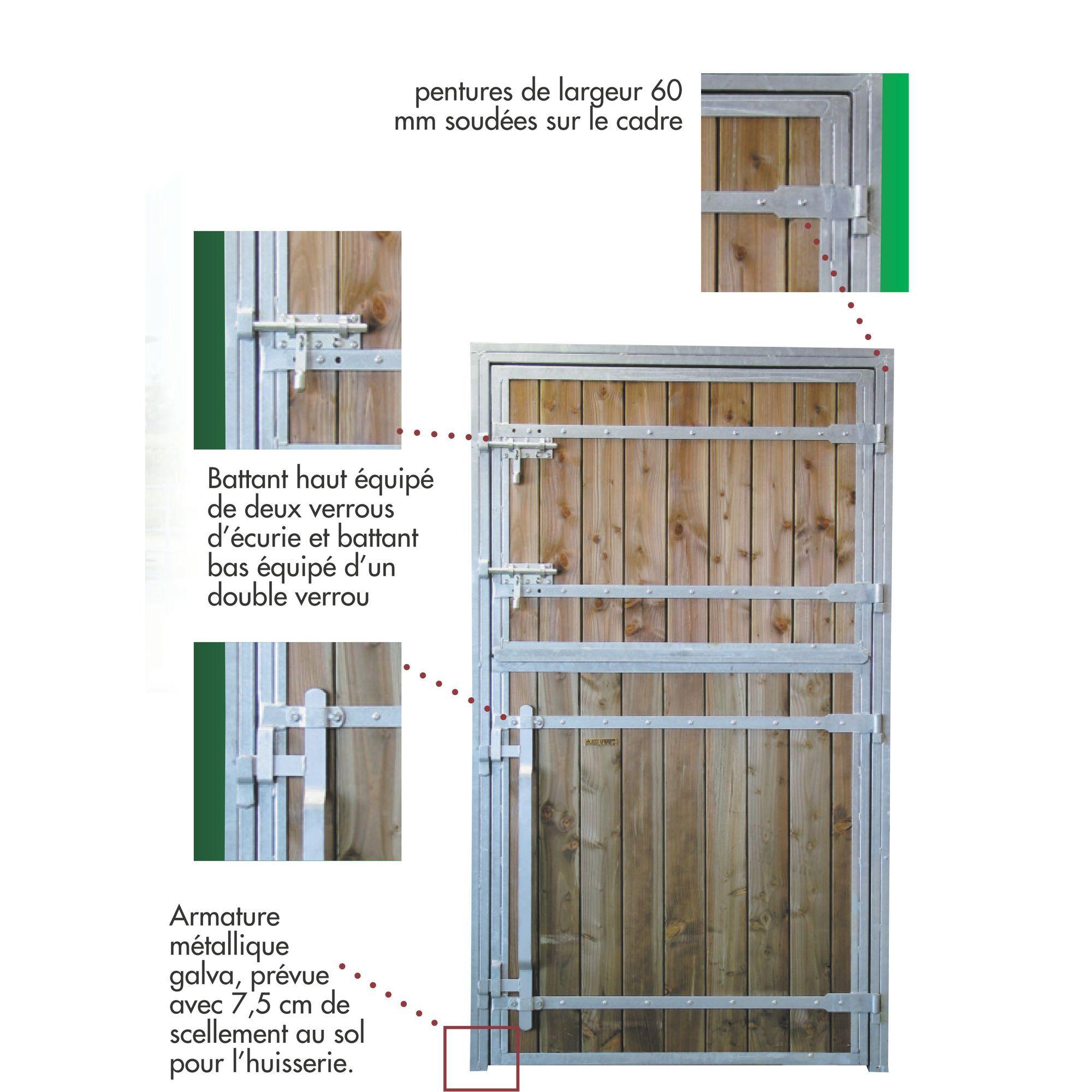 Porte De Box Pour Chevaux Battants Pro Bois Douglas Porte De Box - Porte box chevaux