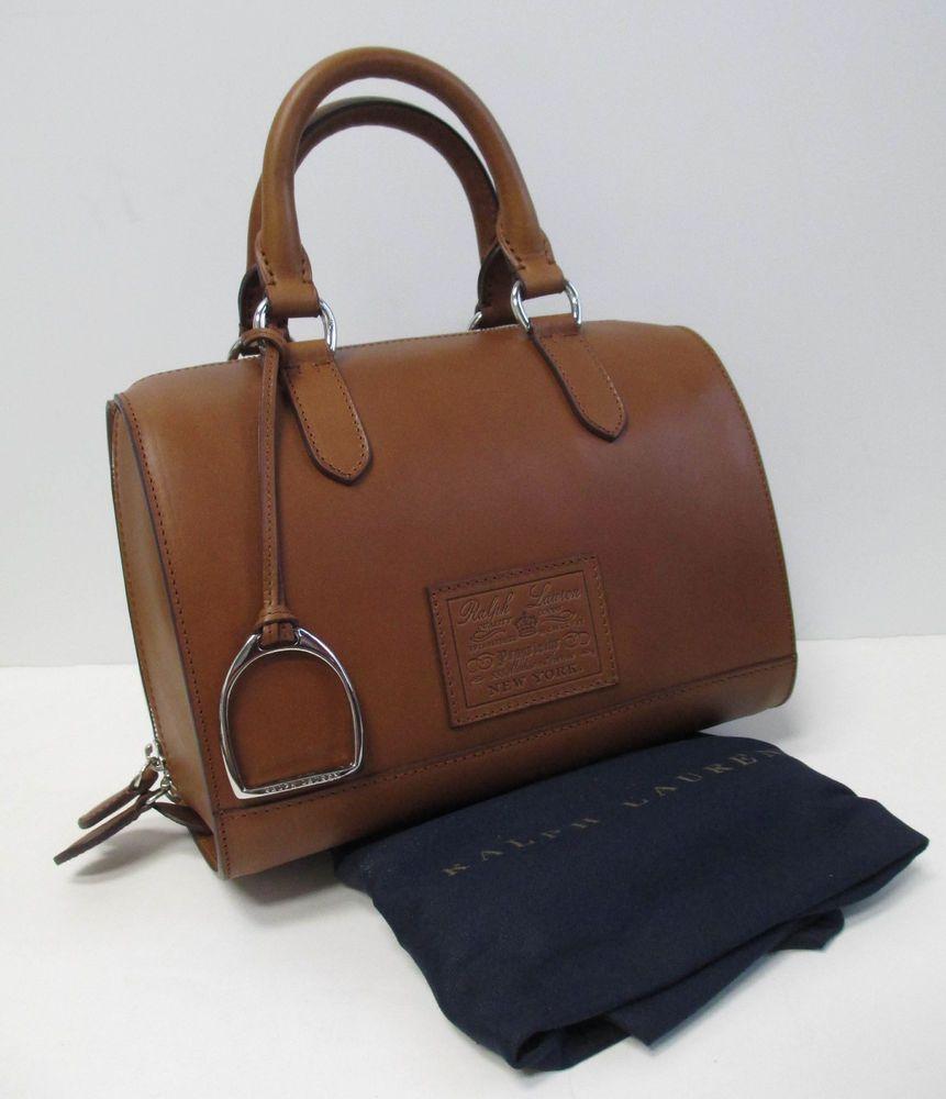 Ralph Lauren Vachetta Stirrup Boston Bag TAN 435174666236 Handbag New 4f62af7eff1a3