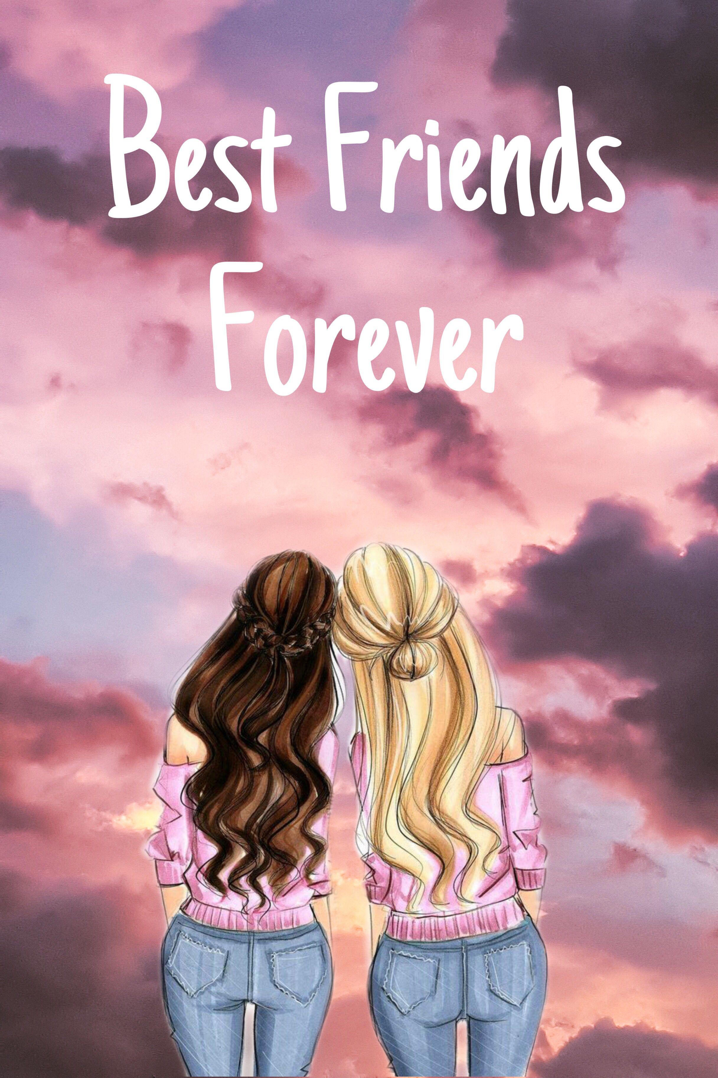 Friendship Background Best Friends Cartoon Best Friend Wallpaper Best Friend Drawings