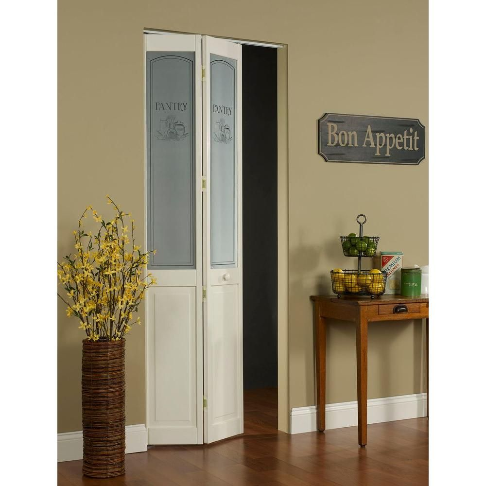 Pinecroft 24 In X 80 In Pantry Glass Over Raised Panel Pine Interior Bi Fold Door 874620 The Home Depot Wood Doors Interior Doors Interior Interior