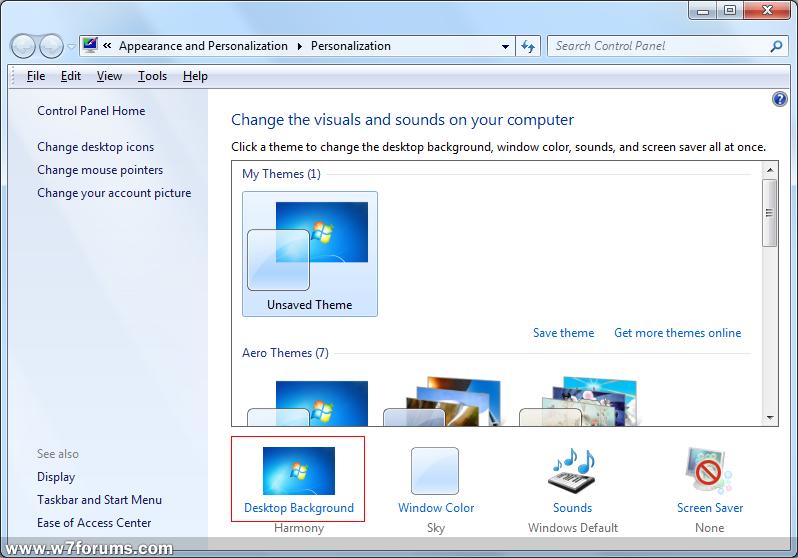 Create Slideshow Of Desktop Wallpapers In Windows 7