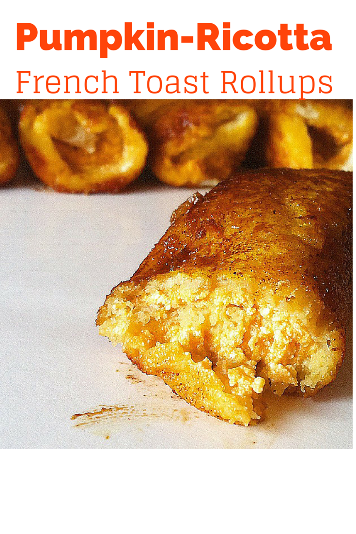 #healthy Pumpkin Ricotta French Toast Rollups! These are such an easy and tasty #breakfast! Everyone loves them!   http://athleticavocado.com/2014/10/07/perfect-fall-breakfast-pumpkin-ricotta-french-toast-roll-ups/