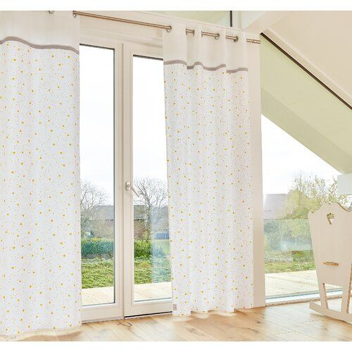 Rounded Triangle Eyelet Semi Sheer Curtains KraftKids ...