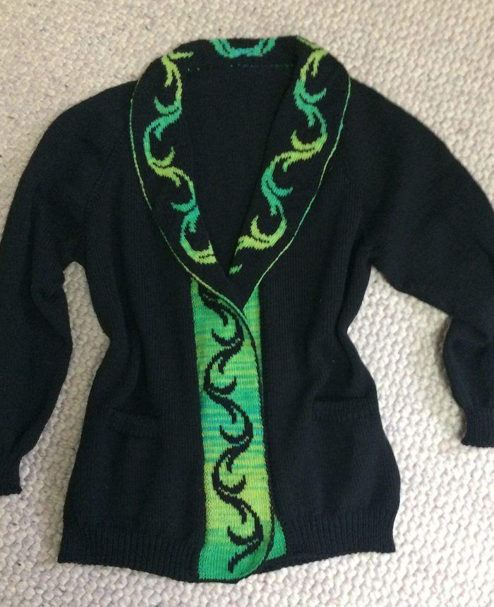 Free Knitting Pattern For Cirrus Cardigan Long Sleeved Raglan
