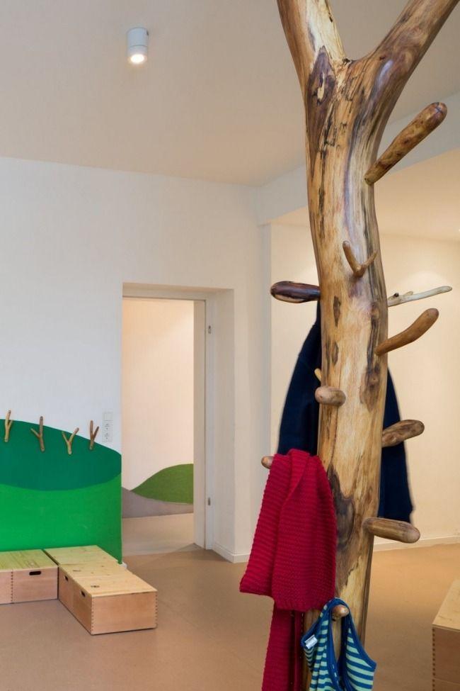 Kleiderständer Baum Optik Design-Baukind Kita Möbel ergonomisch