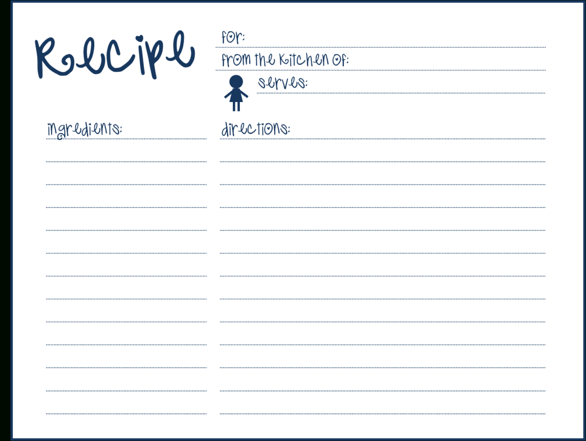8 Free Recipe Card Templates Excel Pdf Formats Here Are My Pertaining To 3x5 Blank Index Card Recipe Cards Template Recipe Template For Word Cookbook Template