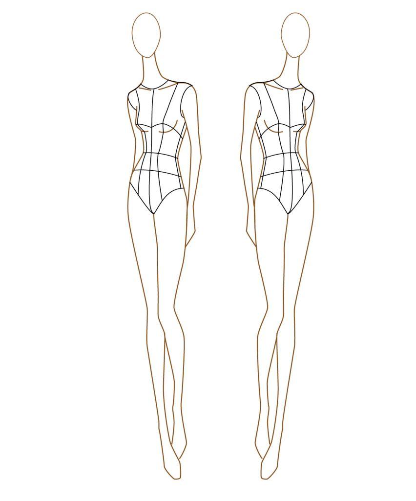 Tops fashion design sketches flat fashion sketch top 045 - Fashion Figure Sketches Examples Of Fashion Templates