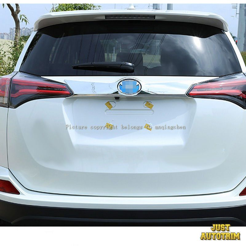 Cool Great Chrome Rear Trunk Lid Cover Trim For 2016 2017 Toyota Rav4 2018