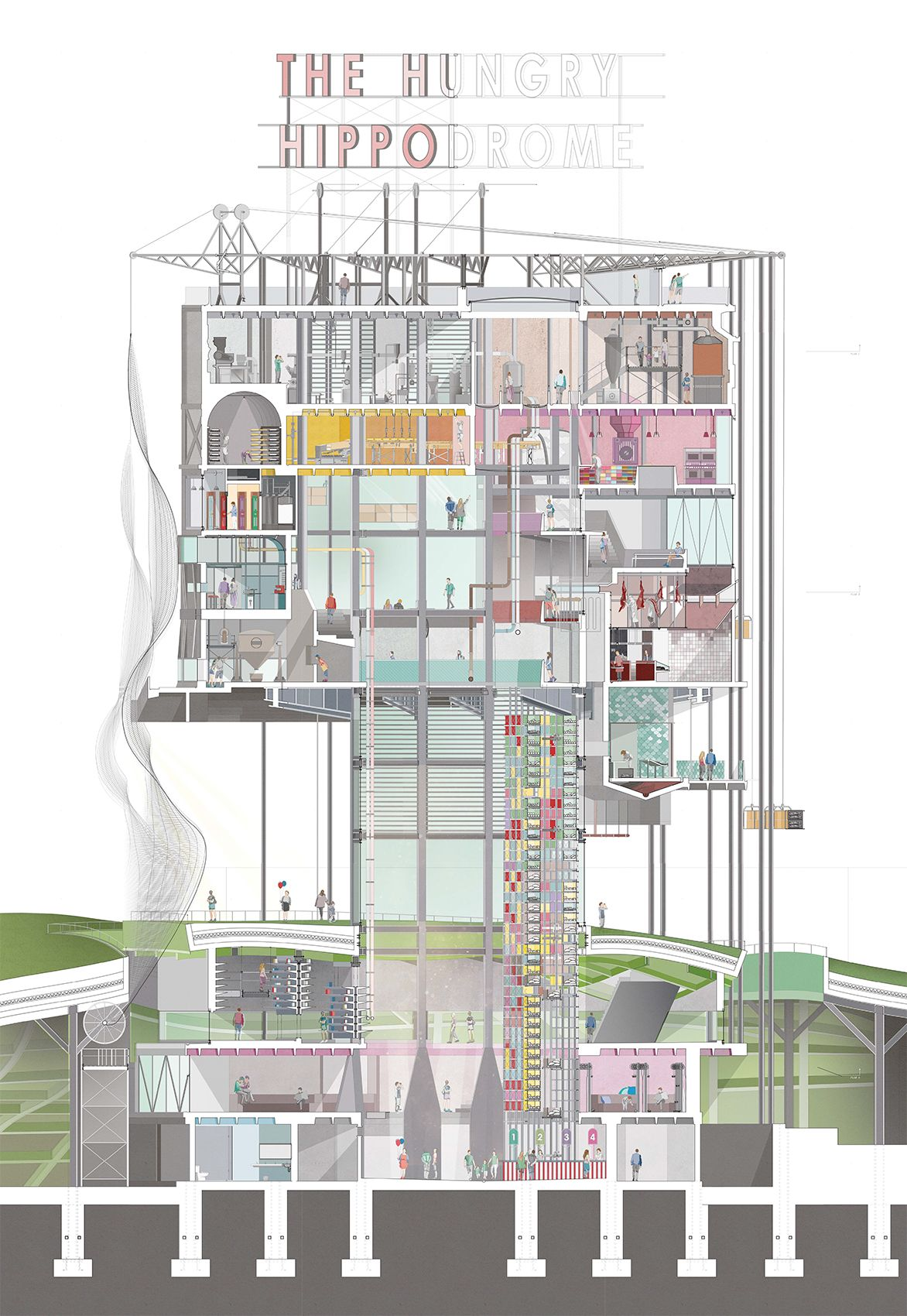 Terrific 1 50 Coloured Section Pdf Arkitektur Tegning Drawings Section Wiring Digital Resources Funapmognl