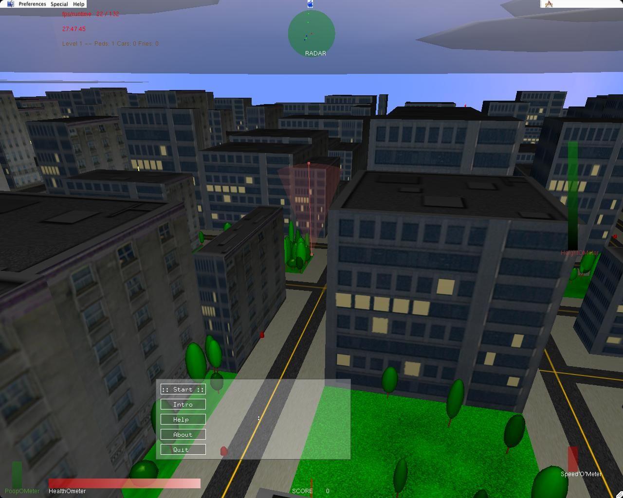 PoopmUp is an open source arcadestyle 3D flight simulator.