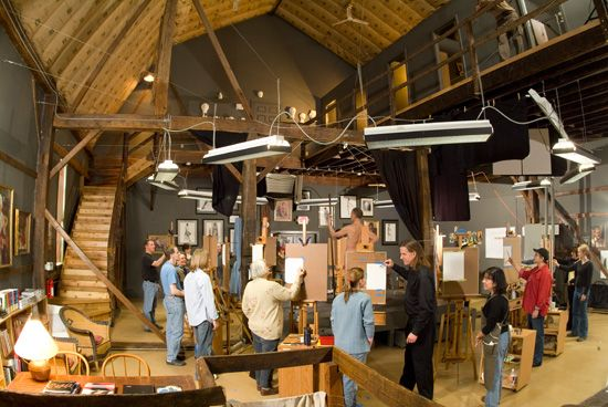 academy transforms barn into learning space--more open concept planning