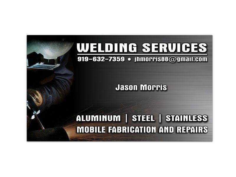 welding services single sided business card - Welding Business Cards