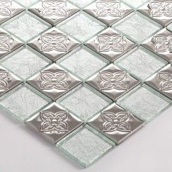 Metallic Glass Tile New Hot Mosaic Tiles glossy color blend square glass tile 1 sq. ft. #9042055
