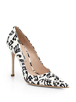 ff3f79fc317 Miu+Miu Music+Note-Print+Patent+Leather+Pumps Do music teachers get a  discount on these  They are so fun!