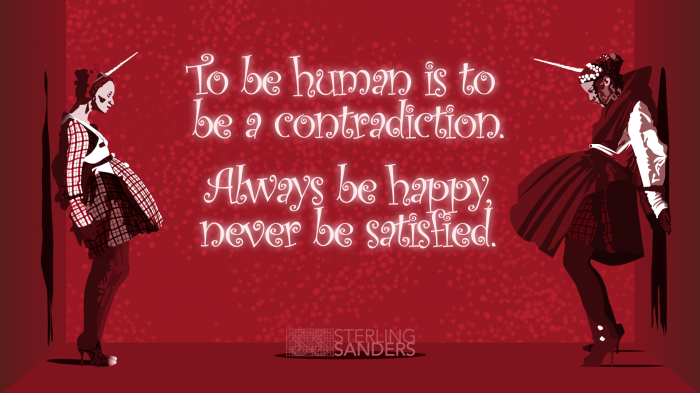 Human Contradiction.  by Sterling Sanders.