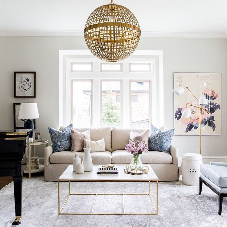 The subtle beauty of this living room