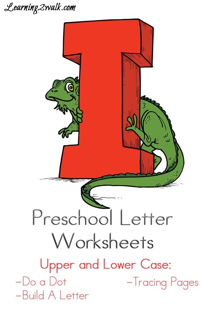 Preschool Letter Worksheets: I | Alphabet Activities and Printables ...