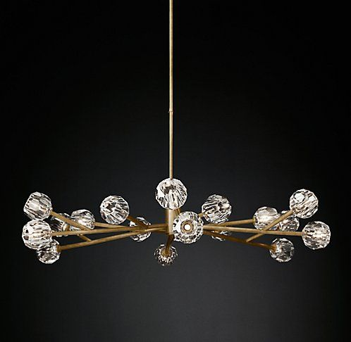 Boule De Cristal Round Chandelier Modern Brass Rh Modern Round Chandelier Modern Chandelier Rh Modern Lighting