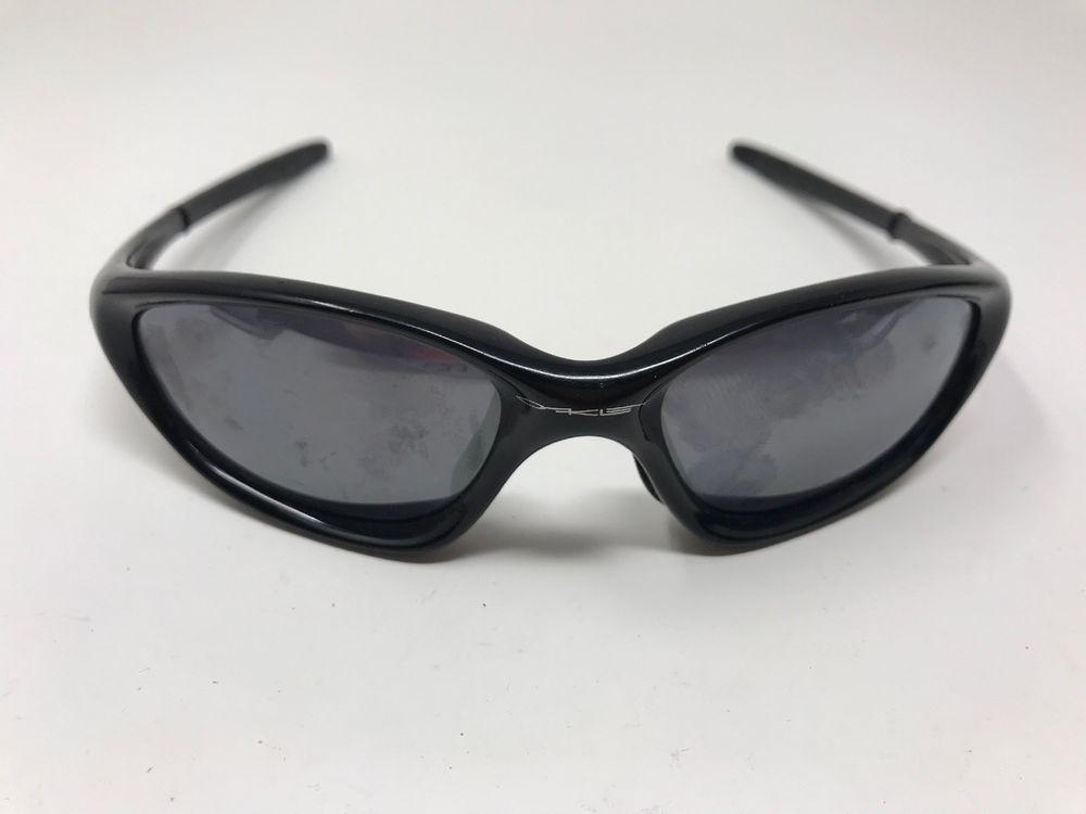 68d0a527cbb Authentic Vintage Oakley Twenty XX Glossy Black Sport Sunglasses L21   fashion  clothing  shoes