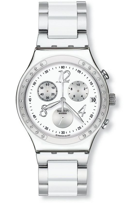 Montre Swatch Irony Chrono Modèle Dreamwhite  5683674c9bd