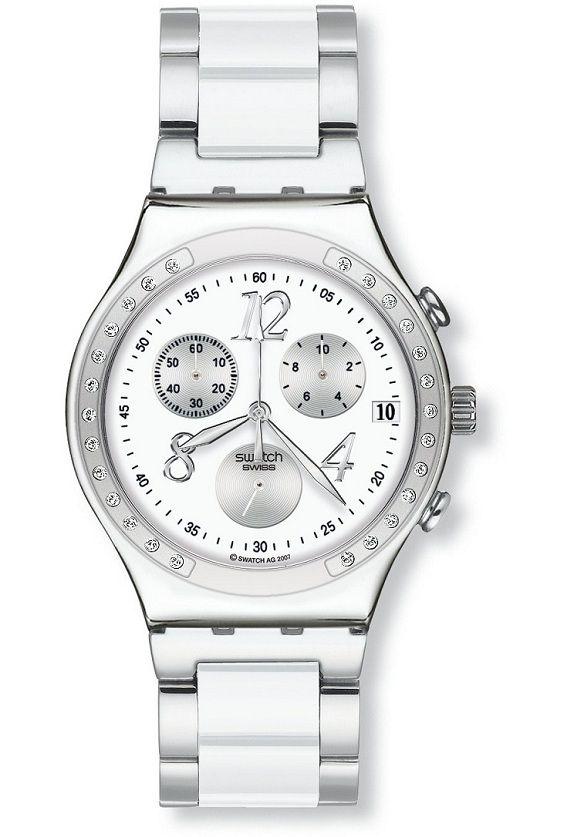 Montre Swatch Irony Chrono Modèle Dreamwhite  5683674c9bd