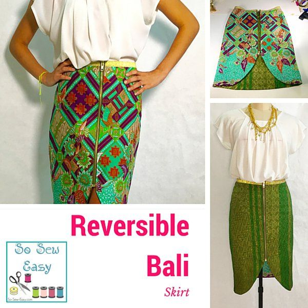 Reversible Skirt FREE Pattern: Let's Call It Bali