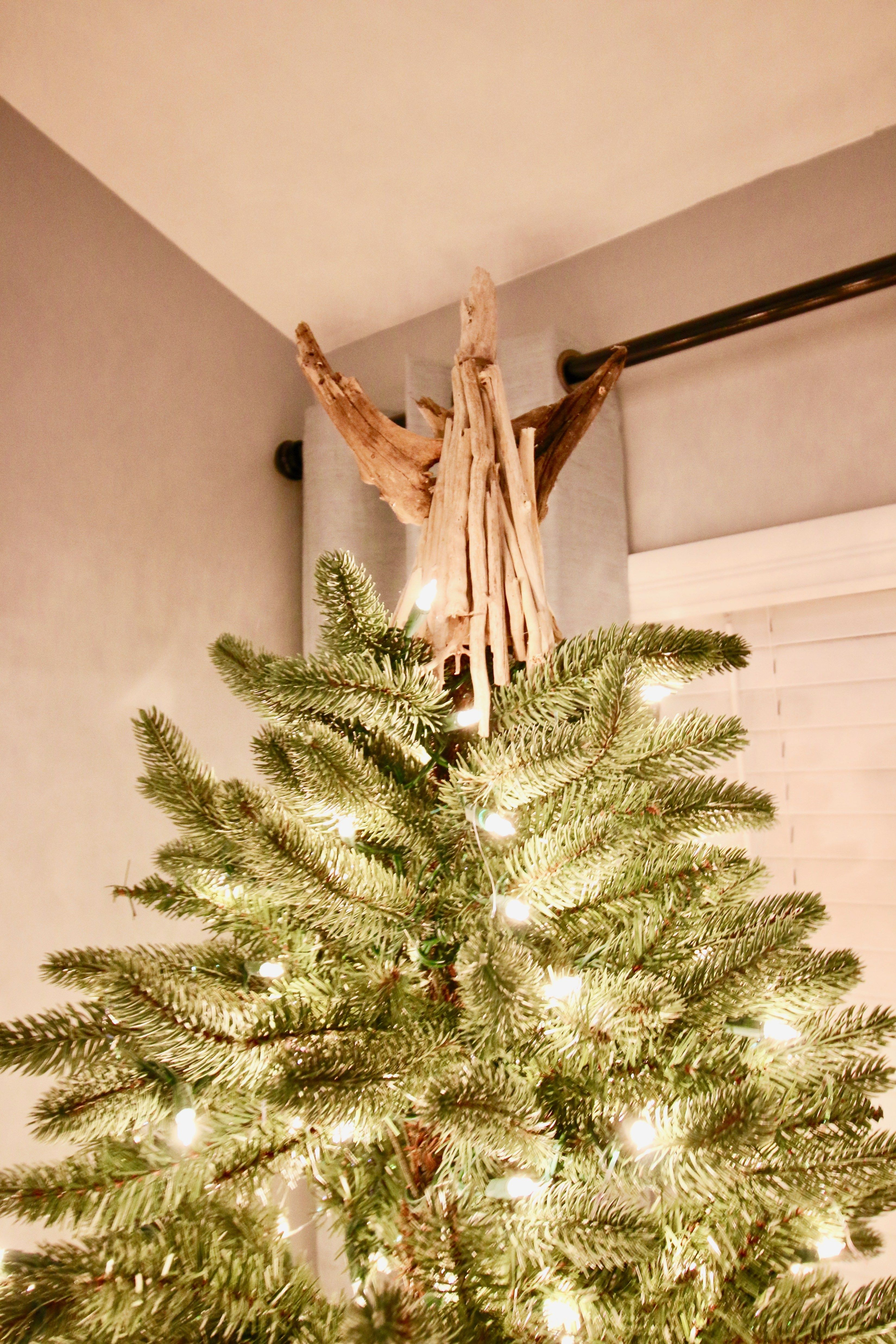 DIY Driftwood Angel Tree Topper Tree toppers, Farmhouse