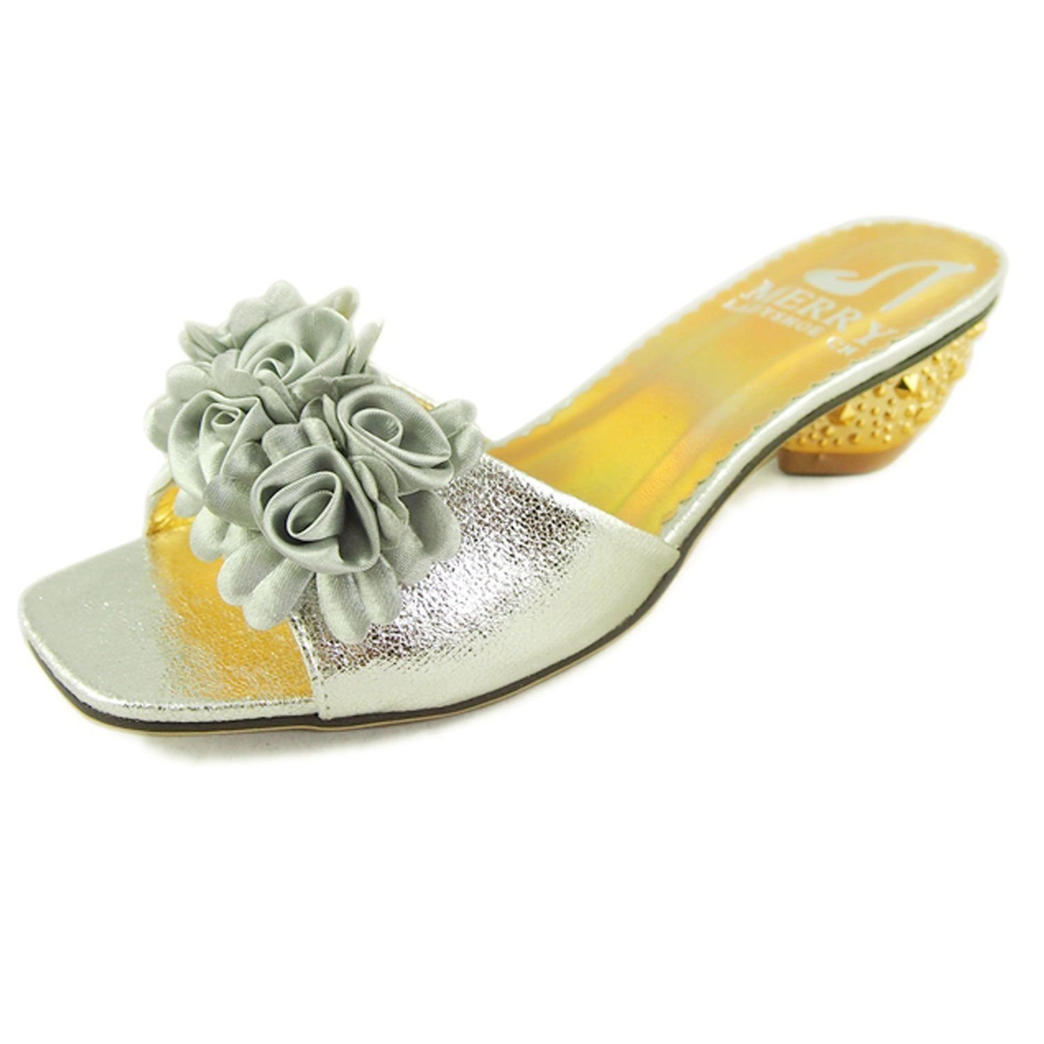 Womens sandals reviews - Just Merry Women S Flowers Low Heel Slides Sandals Read More Reviews Of The Product By