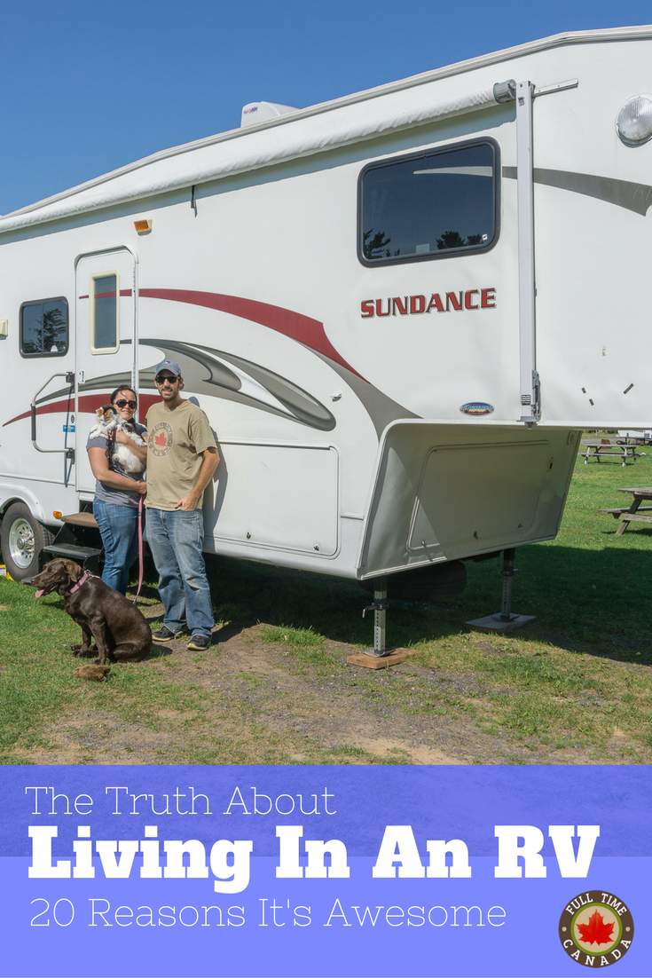Living in an RV has many, many upsides from saving piles of cash to enjoying more time in nature. Read about the 20 reasons we think living in an RV is pretty awesome!