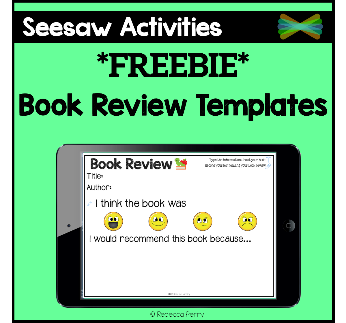 Seesaw Activities Book Review Templates Freebie ELA