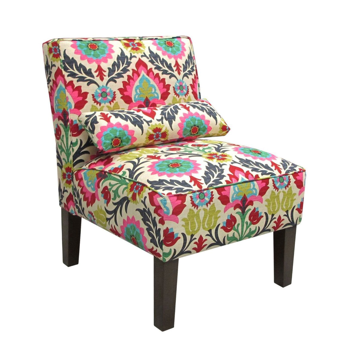 Okay maybe i could get that pink chaise i just posted if i added this chair it has the greens and blues i like yet the pink red gives it that unexpected