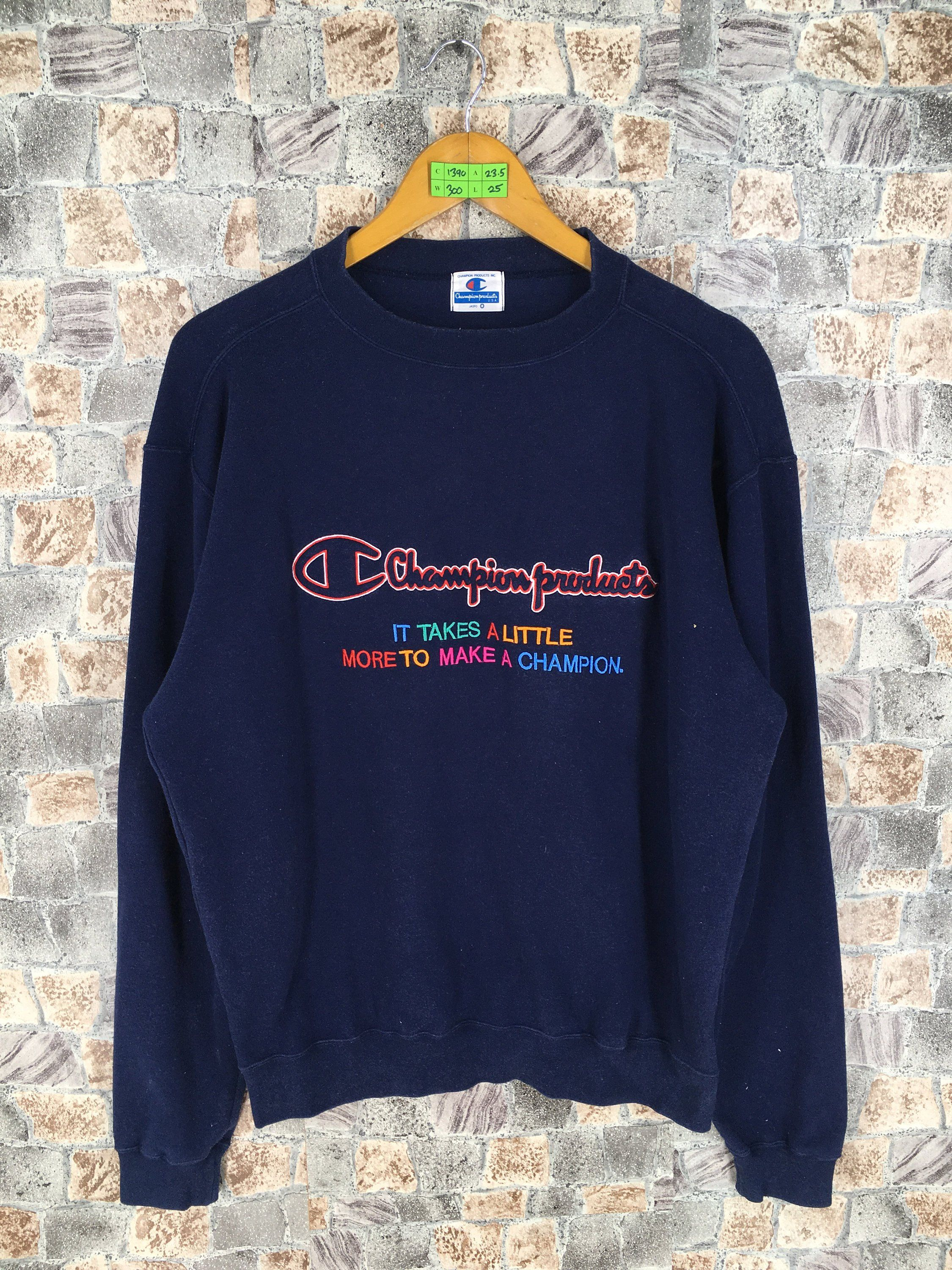 07f85a6eeae Vintage 90s CHAMPION Products Jumper Pullover Large Champion Spell ...