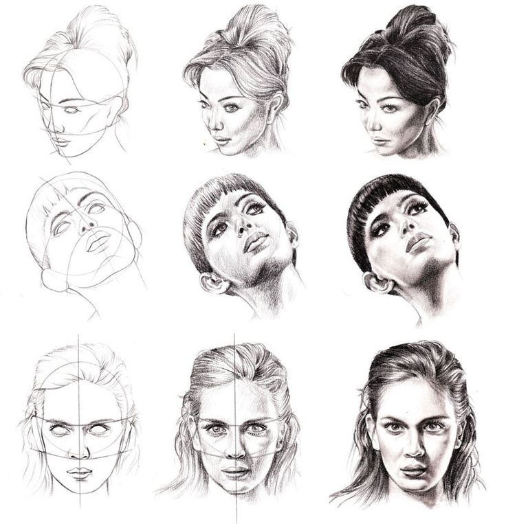 How To Draw A Face Step By Step Drawing Pinterest How To Face Drawing Step By Step Drawing Portrait Drawing
